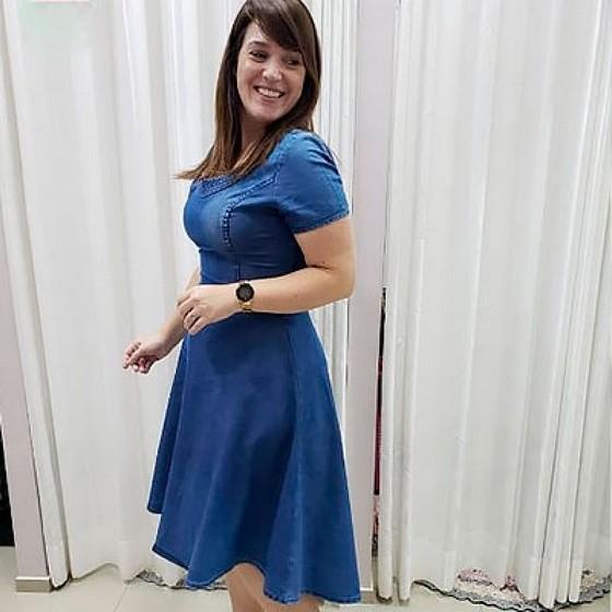 Compra de Moda Evangelica Vestidos Plus Size Jardins - Saia Moda Evangélica Plus Size