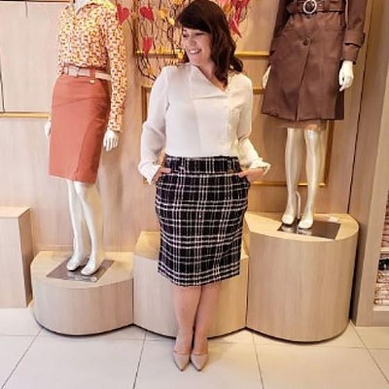 Compra de Saia Moda Evangélica Plus Size Jardim Franca - Saia Moda Evangélica Plus Size