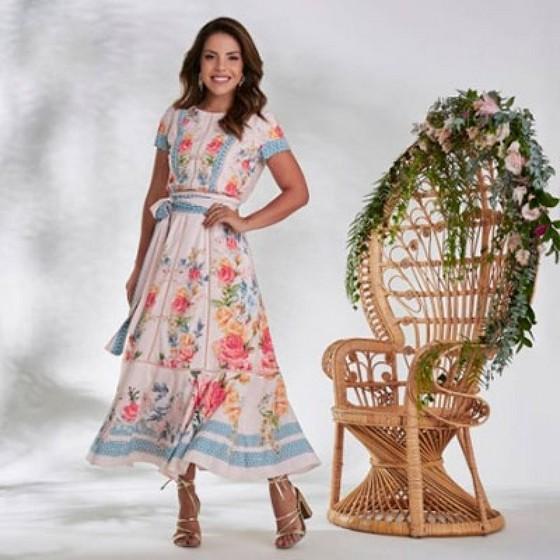Compra de Vestido Longo Plus Size Moda Evangélica Jardim São Luiz - Saias Plus Size Moda Evangélica