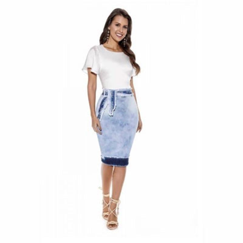 Distribuição de Saia Jeans Evangélica Secretária Ponte Rasa - Saia Jeans Moda Evangélica