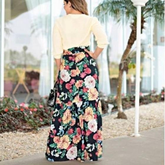 Fornecedor de Saias Longas Jeans Evangélicas Região Central - Saia Jeans Longa Moda Evangélica
