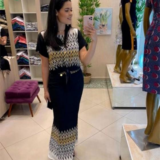 Fornecedor de Saias Longas Sociais Evangélicas Jardim Japão - Saia Jeans Longa Moda Evangélica
