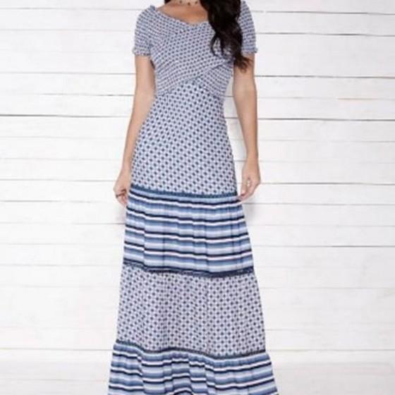 Loja Que Tenha Moda Evangelica Vestidos Longos Estampados Jandira - Moda Evangelica Vestidos Longos Estampados