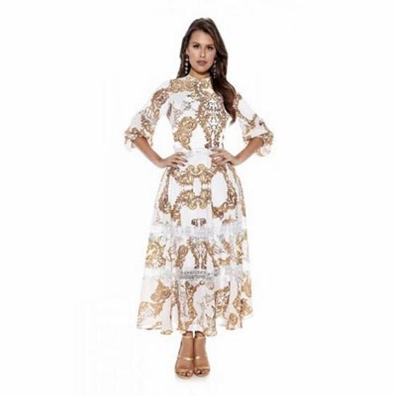 Lojas Que Tenham Moda Evangelica Vestidos Longos Estampados Vila Tramontano - Moda Evangelica Vestidos Godê