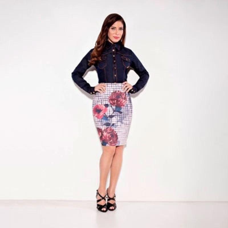 Moda Evangélica Blusa de Tecido Vila Jaraguá - Blusas Sociais Femininas Moda Evangelica