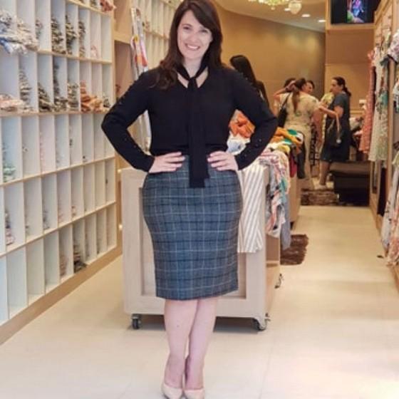 Moda Feminina Evangélica Plus Size Vila Uberabinha - Saias Plus Size Moda Evangélica