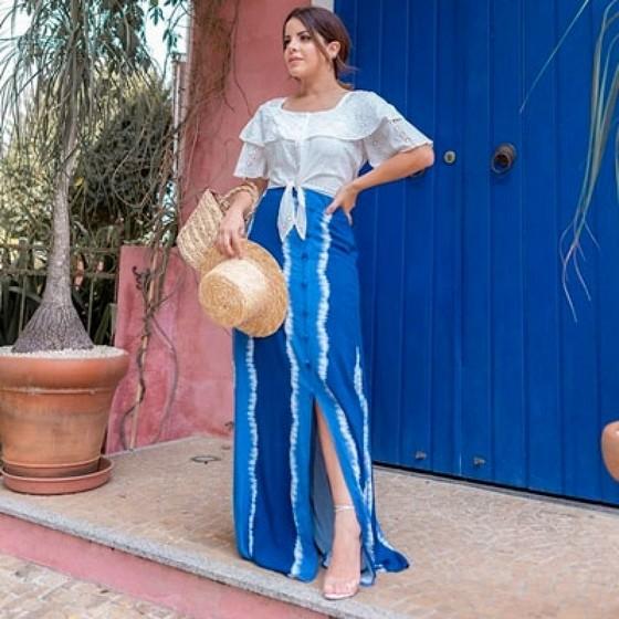 Saias Longas Jeans Moda Evangelica Ermelino Matarazzo - Saia Jeans Longa Moda Evangélica