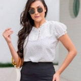 blusa social moda evangélica feminina