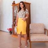 blusa social moda evangélica feminina Suzano