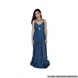 distribuidor de vestido longo de jeans Granja Julieta