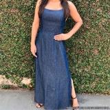 distribuidor de vestido longo jeans claro Luz