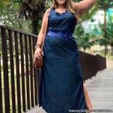 fornecedor de vestido longo jeans claro Vila Romana