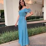 fornecedor de vestido longo jeans Paineiras do Morumbi