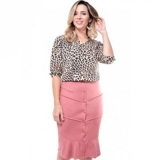 loja que vende moda evangélica blusa de tecido feminina Vila Curuçá