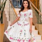 lojas de vestido longo florido evangélico Casa Verde