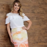 lojas que vendem moda evangelica blusas de renda Jardim Vazani