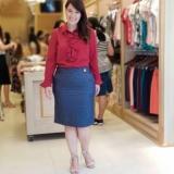moda evangélica blusa de tecido feminina Itaquera