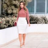 moda evangélica blusa de tecido feminina