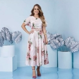 vestido longo plus size moda evangélica