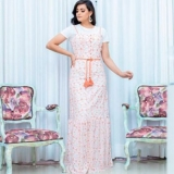 moda evangelica vestidos longos estampados Florianópolis