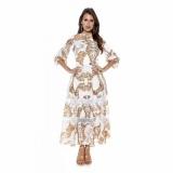 moda evangelica vestidos rodados Campo Belo
