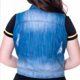 orçamento de colete jeans plus size feminino Real Parque