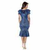 preço de moda evangelica vestido jeans Jardim Novo Mundo