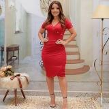 preço de vestido vermelho moda evangélica Jardim Ângela