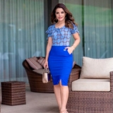 qual o valor blusa social de moda evangélica Jaguaré