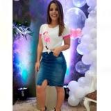 saias jeans evangelica moda Cantareira