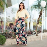 valor de saia florida moda evangelica Granja Julieta