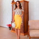 venda em atacado de blusas femininas evangelicas Limão