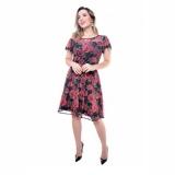 venda em atacado de vestido rodado curto de festa São Domingos