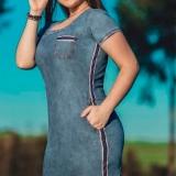 vestido jeans para plus size Vila Tramontano