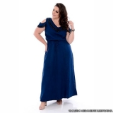vestido longo jeans plus size