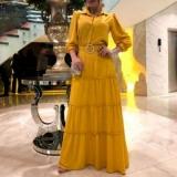 vestido manga longa moda evangélica Cantareira