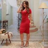 vestido vermelho moda evangélica